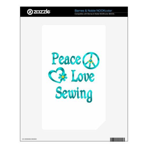 Costura del amor de la paz calcomanía para NOOK color