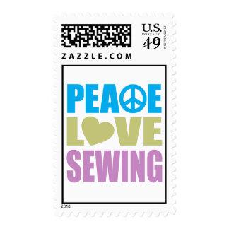 Costura del amor de la paz sello