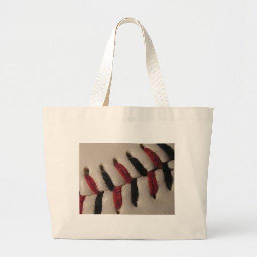 Costura del béisbol bolsa lienzo