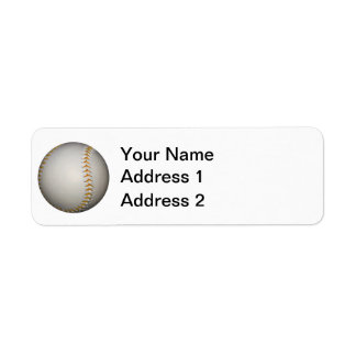 Costura del béisbol/del softball w/Orange Etiqueta De Remite