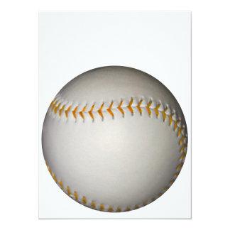 "Costura del béisbol/del softball w/Orange Invitación 5.5"" X 7.5"""