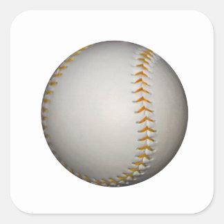 Costura del béisbol/del softball w/Orange Pegatina Cuadrada
