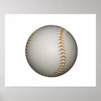 Costura del béisbol/del softball w/Orange Póster