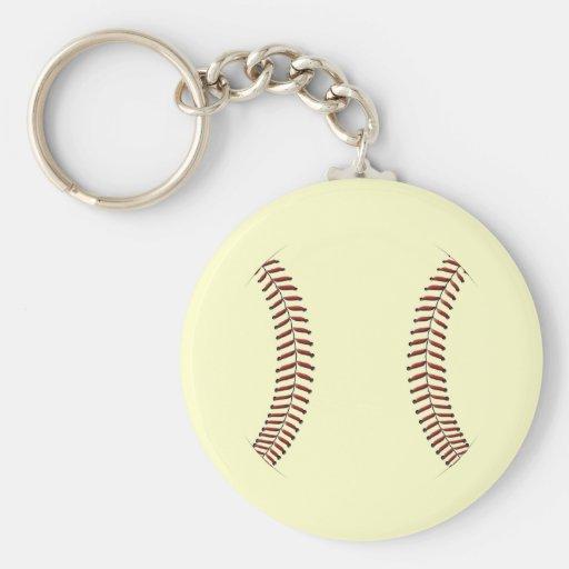 Costura del béisbol llaveros personalizados