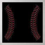 Costura del béisbol posters