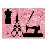 Costura/moda/costurera - SRF Plantilla De Tarjeta De Visita