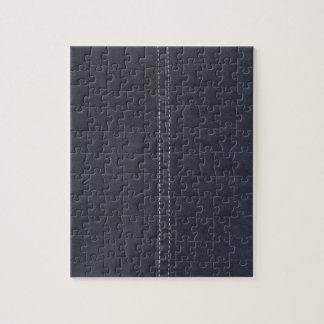 Costura oscura del dril de algodón rompecabeza