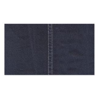 Costura oscura del dril de algodón plantillas de tarjetas personales