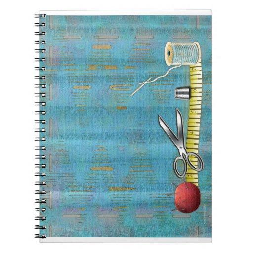 Costura retra libros de apuntes con espiral