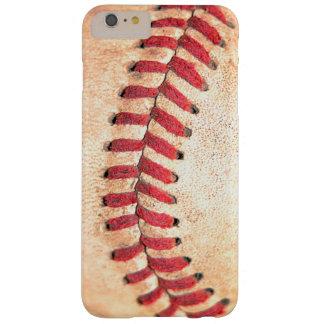 Costura roja llevada sucia de la bola del béisbol funda de iPhone 6 plus barely there