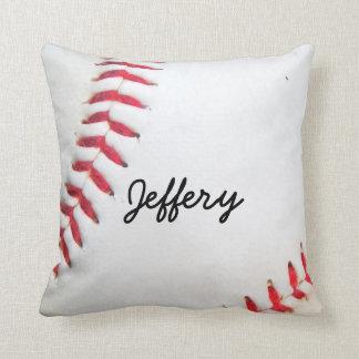 Costura roja personalizada del béisbol blanco de cojín