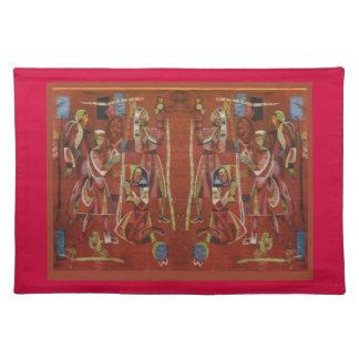 Costura rumana del vintage, bordado mantel individual