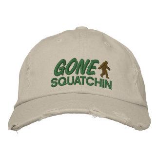 Costura verde y marrón de Squatchin ido - Gorro Bordado