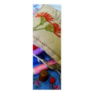 Costura y bordado tarjetas de visita mini