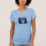 Costuras de la corte en azul claro camisetas