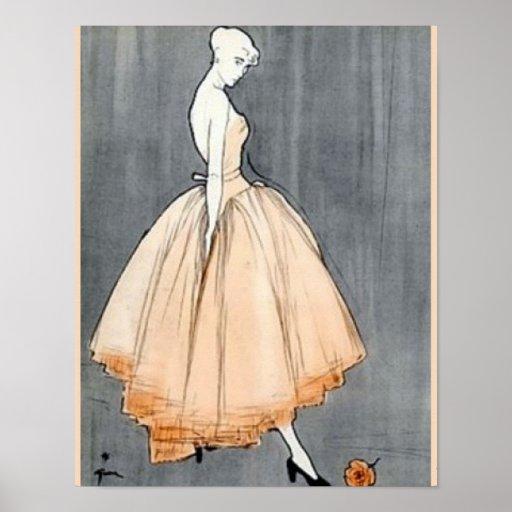 Costuras del francés de los años 40 del vintage posters
