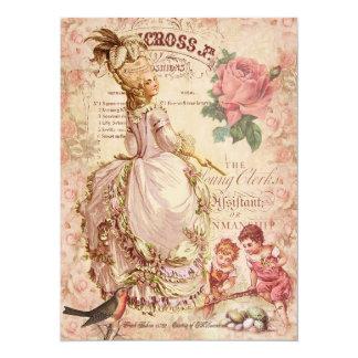 Costuras del Mademoiselle Invitación 13,9 X 19,0 Cm