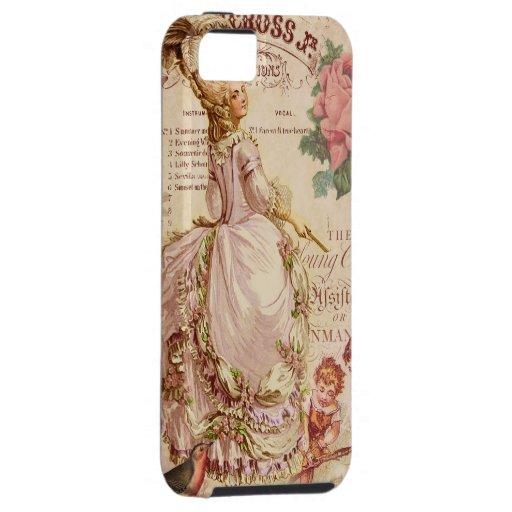 Costuras del Mademoiselle iPhone 5 Funda