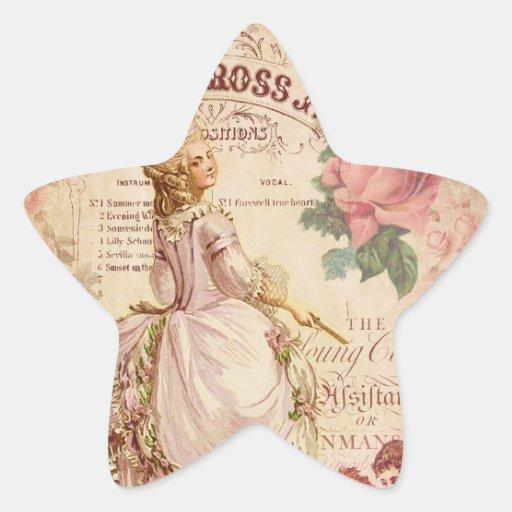 Costuras del Mademoiselle Pegatina En Forma De Estrella