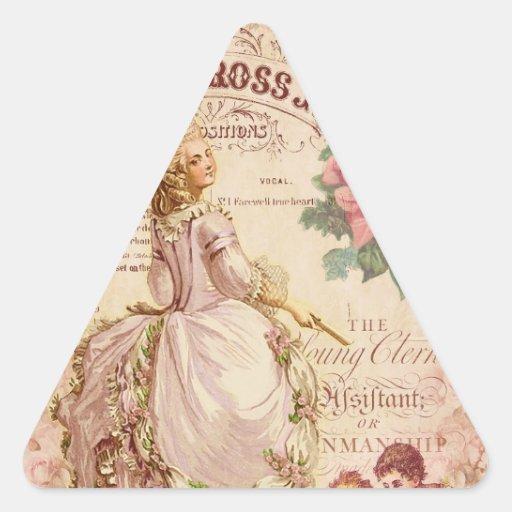 Costuras del Mademoiselle Calcomanías De Trianguladas