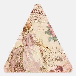 Costuras del Mademoiselle Pegatina Triangular