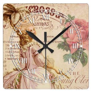 Costuras del Mademoiselle Reloj Cuadrado