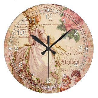 Costuras del Mademoiselle Reloj Redondo Grande