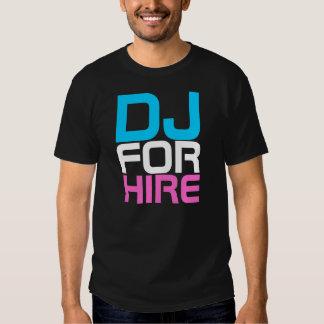 Costuras DJ del rap PARA la camiseta del ALQUILER Poleras