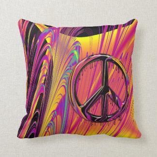 Costuras psicodélicas del hippy de la bandera anor almohadas