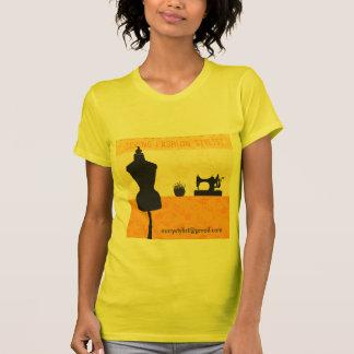 Costurera del estilista de la moda camisetas