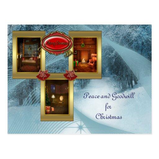 Cosy Christmas Postcard