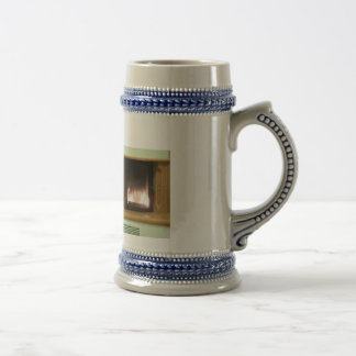 Cosy evening at the fire-place beer stein