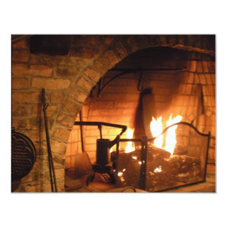 Cosy Fireplace Card