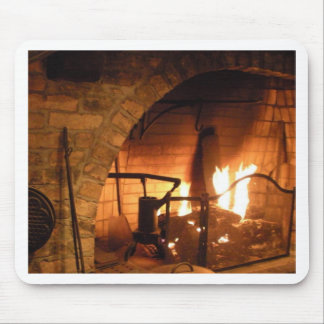 Cosy Fireplace Mouse Pad
