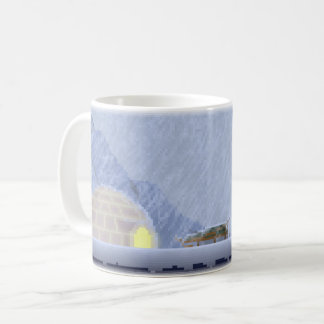 Cosy in the Storm Pixel Art Coffee Mug