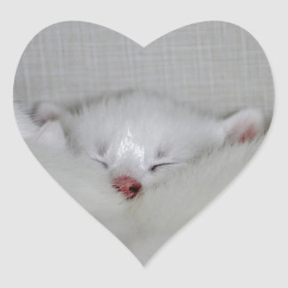 Cosy Little Nosey Heart Sticker