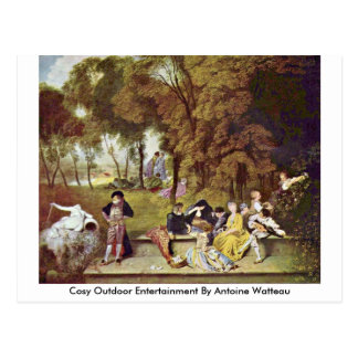 Cosy Outdoor Entertainment By Antoine Watteau Postcard