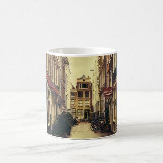 Cosy Street In Amsterdam, Retro Vintage Colors Coffee Mug