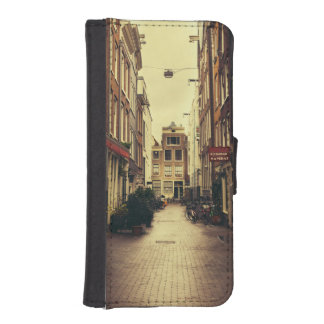 Cosy Street In Amsterdam, Retro Vintage Colors iPhone SE/5/5s Wallet Case