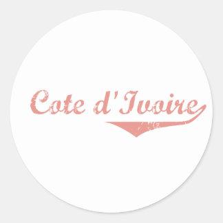 Cote D&Apos;Ivoire Revolution Style Round Sticker