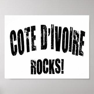 Cote D&Apos;Ivoire Rocks! Print