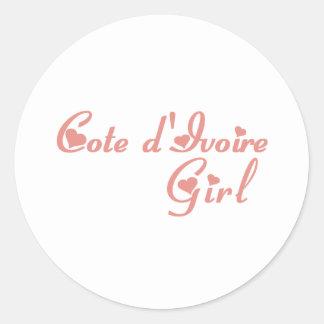 Cote d'Ivoire Round Stickers