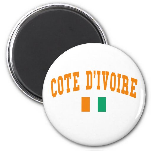 Cote D&Apos;Ivoire Style 2 Inch Round Magnet