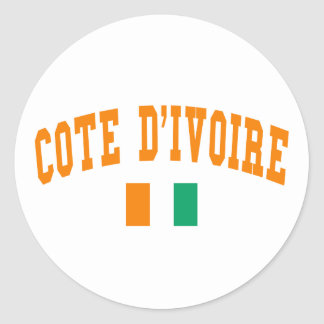 Cote D&Apos;Ivoire Style Round Stickers