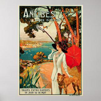 Cote d Azur de Antibes Poster
