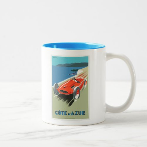 Cote d Azur French vintage Travel poster as Mug