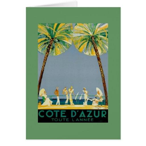 cote d 39 azur posters vintage card zazzle. Black Bedroom Furniture Sets. Home Design Ideas