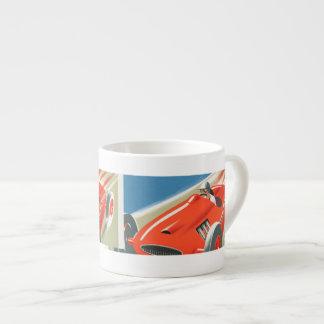 Cote d Azur Vintage Race Car Espresso Cups