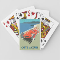 Cote d Azur Vintage Travel Poster  Playing Cards