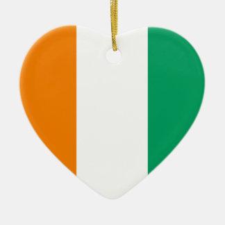 Côte d Ivoire Flag Heart Ornament